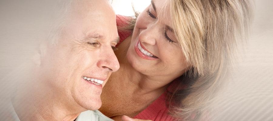 Happy smiling older couple